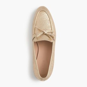 J Crew Gold Academy Loafers